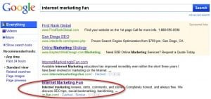 Google position ranking