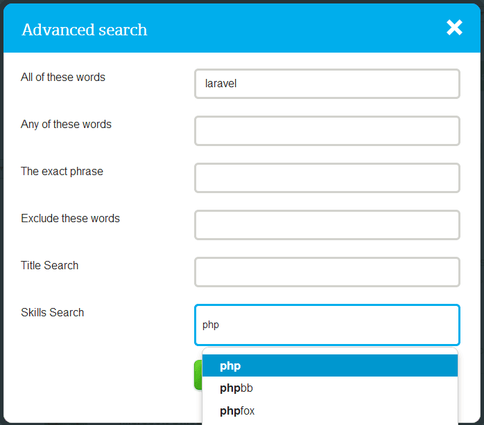 oDesk - Advanced Search